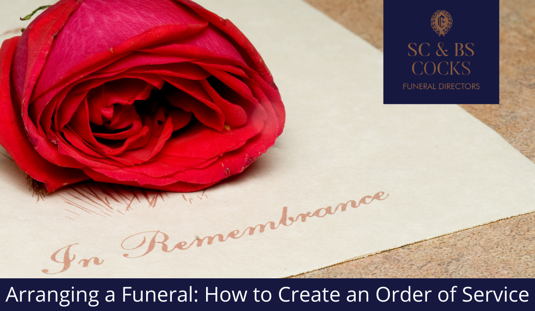 Arranging a Funeral: How to Create an Order of Service
